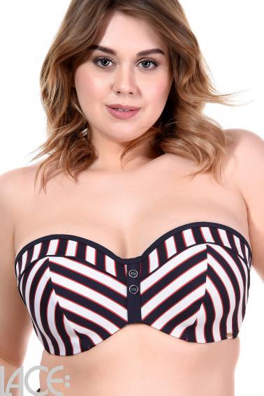 Panache Swim - Lucille Bandeau Bikini Top GG-H cup