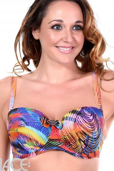 Antigel by Lise Charmel - La Surf Mania Bandeau Bikini Top D-E cup