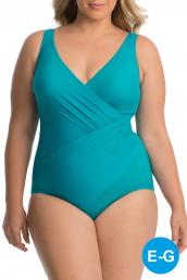Miraclesuit - Must Have Oceanus Swimsuit DD cup - Amalfi-Green