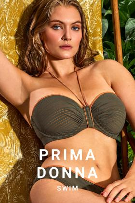 PrimaDonna Swim - Marquesas Bikini Bandeau bra with detachable straps E-G Cup