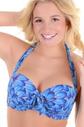 Missya - Blue Dreams Bikini Bandeau bra with detachable straps E-G Cup